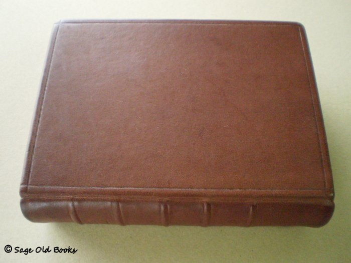 1610 Bible - New leather cover duplicating original.