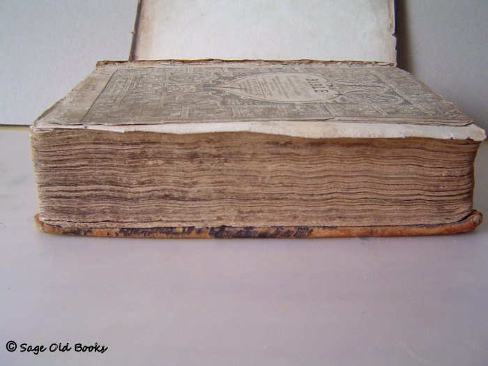 1610 Bible with damaged pages as received