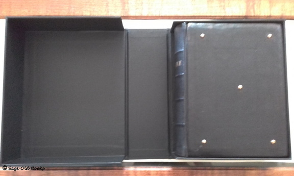 The open box with book in place.