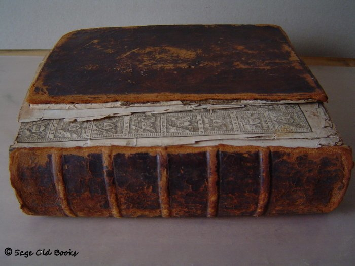 1610 Bible - as received. Spine off, pages torn