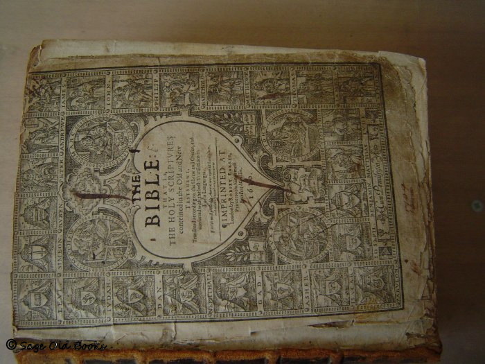 1610 Bible - as received. Ttile page torn